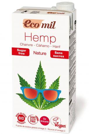 Растительное молоко Ecomil из конопли без сахара органическое 1 л