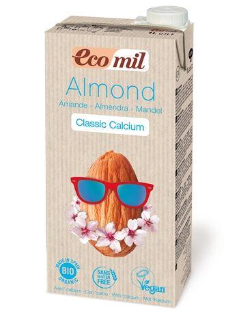 Растительное миндаьное молоко Ecomil с кальцием органическое 1 л
