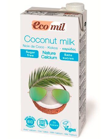 Растительное молоко Ecomil из кокоса с кальцием органическое 1 л