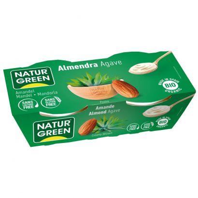 Растительный десерт Ecomil из миндаля с сиропом агавы органический 125г x 2