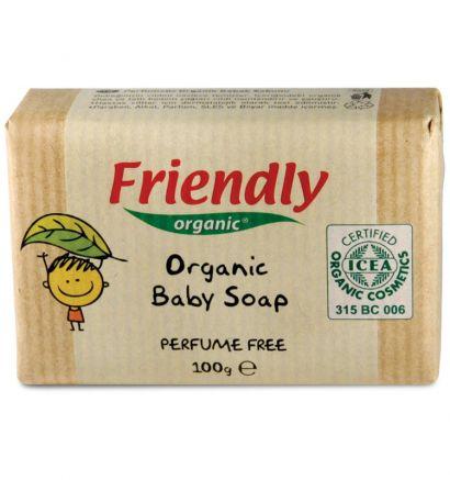 Детское мыло без запаха Friendly Organic (брусок), 100 гр