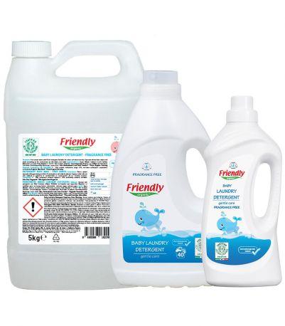 Органический жидкий гель для стирки детских вещей (без запаха), Friendly Organic, 5 л