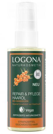 БИО-Масло-реконструктор для волос «Облепиха» Logona, 75мл