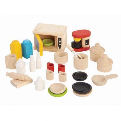 Деревянная игрушка Аксессуары для кухни и столовая посуда PlanToys