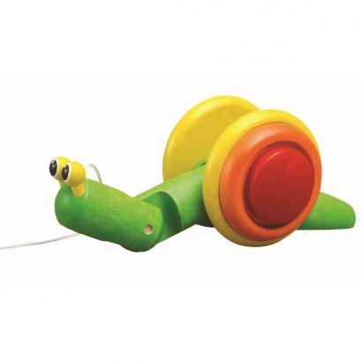 Деревянная игрушка Каталка улитка, PlanToys
