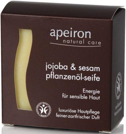 Мыло Apeiron для чувствительной кожи с маслом жожоба и кунжутным маслом100 г