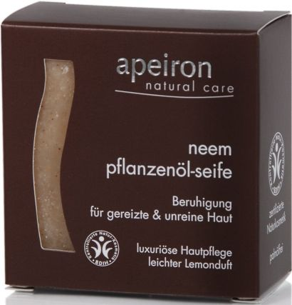 Мыло Apeiron для раздраженной и проблемной кожи с маслом Нима 100 г