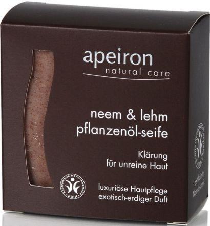 Мыло Apeiron для проблемной кожи с маслом нима и глиной 100 г