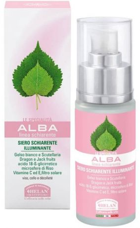 Сыворотка для лица и шеи против пигментации кожи Alba lightening serum brightening 30 мл